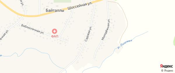 Садовая улица на карте села Байталлы с номерами домов