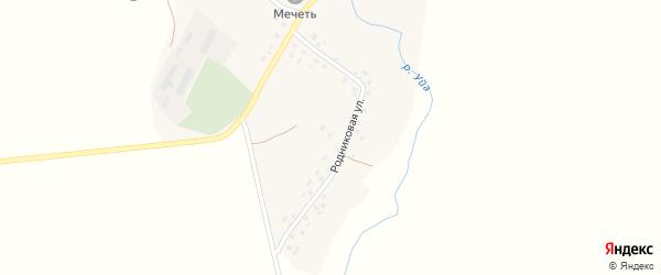 Молодежная улица на карте деревни Каинлыково с номерами домов