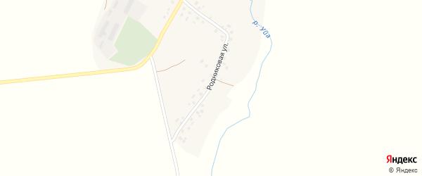 Родниковая улица на карте деревни Каинлыково с номерами домов