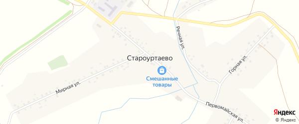 Мирная улица на карте села Староуртаево с номерами домов