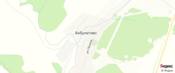 Карта села Акбулатово в Башкортостане с улицами и номерами домов