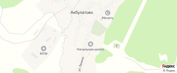 Улица Ленина на карте села Акбулатово с номерами домов