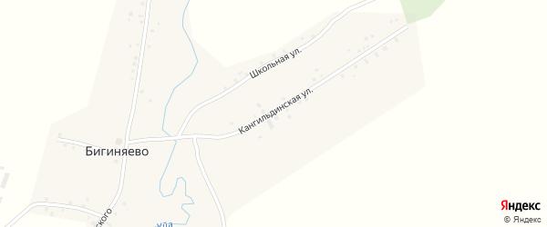 Кангильдинская улица на карте деревни Бигиняево с номерами домов