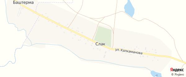 Улица Г.Калкаманова на карте деревни Слака с номерами домов