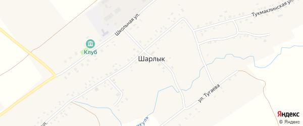 Магазинный переулок на карте деревни Шарлыка с номерами домов