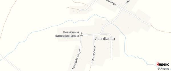 Центральная улица на карте села Исанбаево с номерами домов