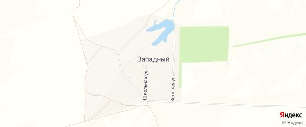 Карта деревни Западного в Башкортостане с улицами и номерами домов