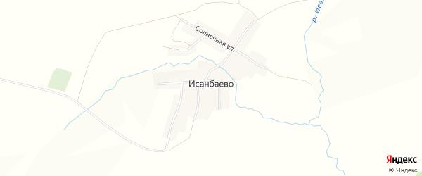 Карта села Исанбаево в Башкортостане с улицами и номерами домов
