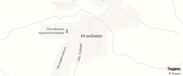 Солнечная улица на карте села Исанбаево с номерами домов