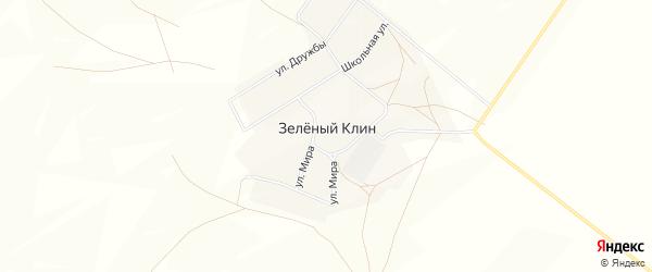 Карта деревни Зеленого Клина в Башкортостане с улицами и номерами домов