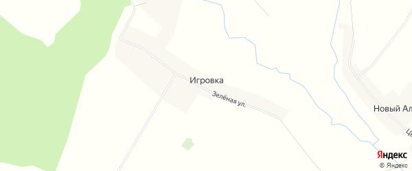 Карта деревни Игровки в Башкортостане с улицами и номерами домов