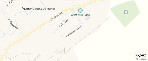 Молодежная улица на карте села Уршакбашкарамалы с номерами домов
