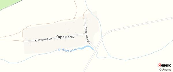 Северная улица на карте деревни Карамалы с номерами домов