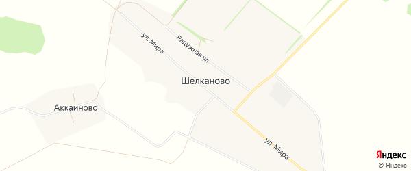 Карта села Шелканово в Башкортостане с улицами и номерами домов