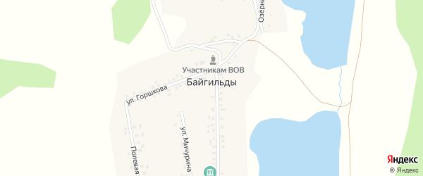 Улица Крупской на карте села Байгильды с номерами домов