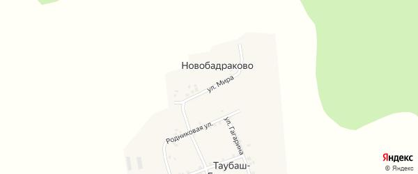 Улица Мира на карте деревни Новобадраково с номерами домов
