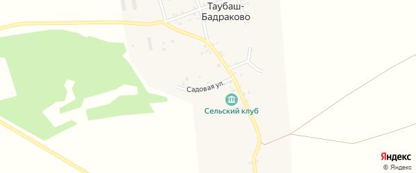 Садовая улица на карте деревни Таубаш-Бадраково с номерами домов
