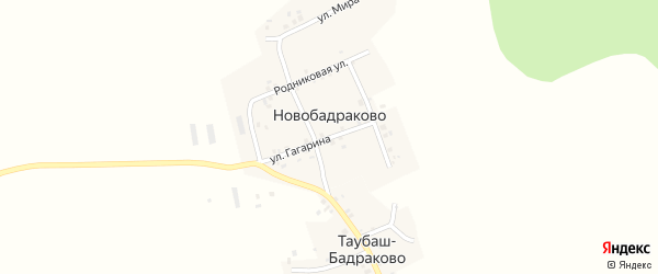 Улица Гагарина на карте деревни Таубаш-Бадраково с номерами домов