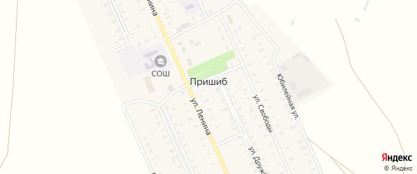 Российская улица на карте села Пришиба с номерами домов