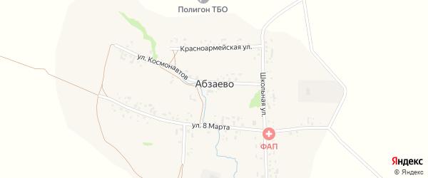 Школьная улица на карте деревни Абзаево с номерами домов