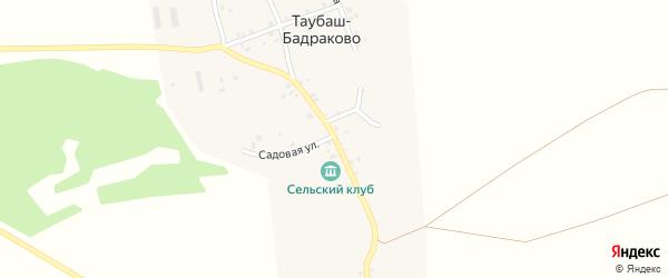 Улица Октябрьской Революции на карте деревни Таубаш-Бадраково с номерами домов