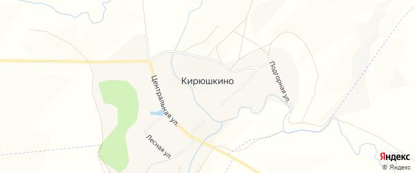 Карта села Кирюшкино в Башкортостане с улицами и номерами домов