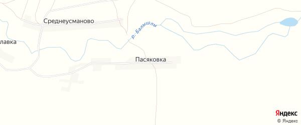 Карта деревни Пасяковки в Башкортостане с улицами и номерами домов