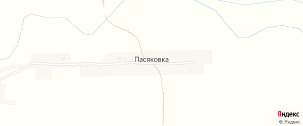 Улица Надежды на карте деревни Пасяковки с номерами домов