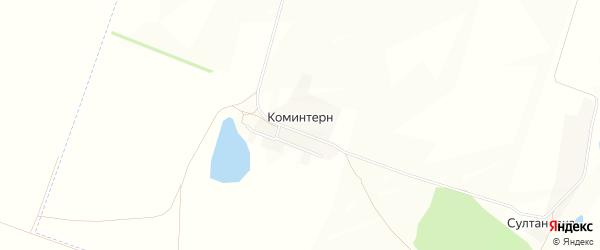 Карта деревни Коминтерна в Башкортостане с улицами и номерами домов