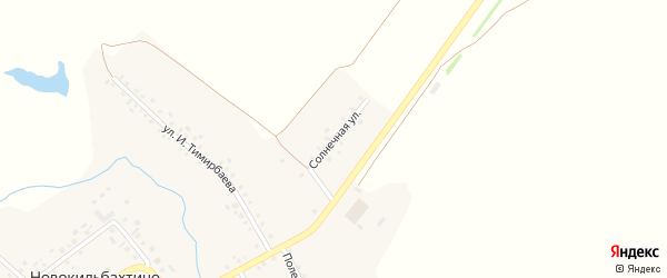 Солнечная улица на карте деревни Новокильбахтино с номерами домов
