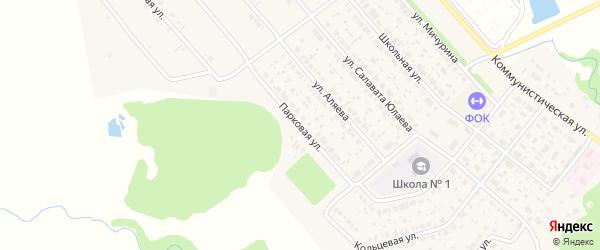 Парковая улица на карте села Федоровки с номерами домов