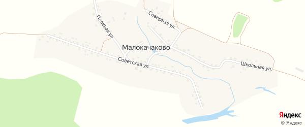 Северная улица на карте деревни Малокачаково с номерами домов