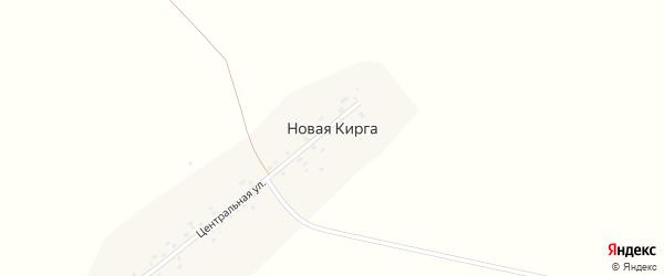 Центральная улица на карте деревни Новой Кирги с номерами домов