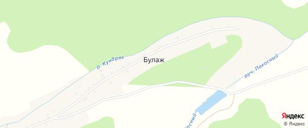 Улица Самохина на карте деревни Булажа с номерами домов