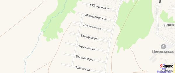 Западная улица на карте села Федоровки с номерами домов