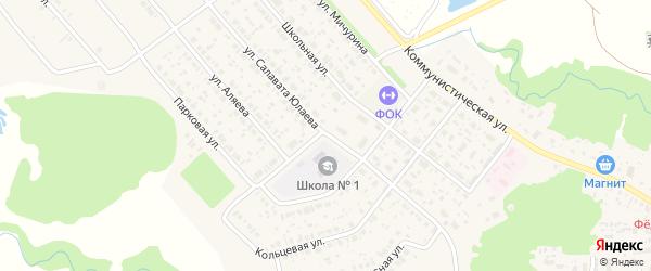 Улица Салавата Юлаева на карте села Федоровки с номерами домов