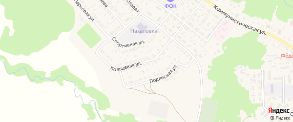 Кольцевая улица на карте села Федоровки с номерами домов