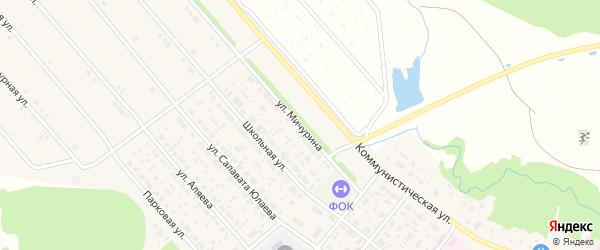 Улица Мичурина на карте села Федоровки с номерами домов