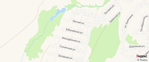 Юбилейная улица на карте села Федоровки с номерами домов