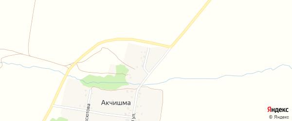 Нагорная улица на карте деревни Акчишмы с номерами домов