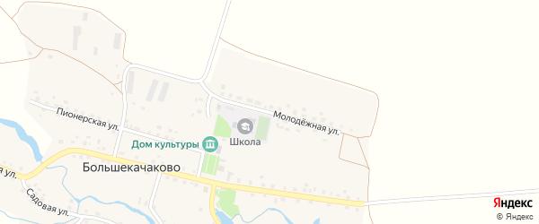 Молодежная улица на карте деревни Большекачаково с номерами домов
