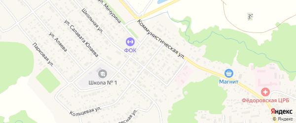 Школьный переулок на карте села Федоровки с номерами домов