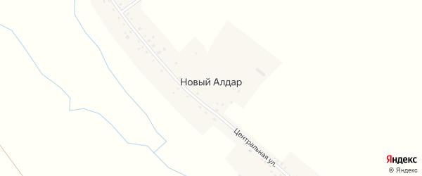 Центральная улица на карте деревни Нового Алдара с номерами домов