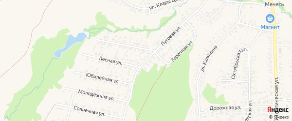 Луговая улица на карте села Федоровки с номерами домов
