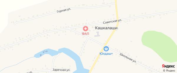Школьная улица на карте села Кашкалаши с номерами домов