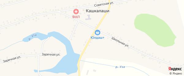 Мостовая улица на карте села Кашкалаши с номерами домов
