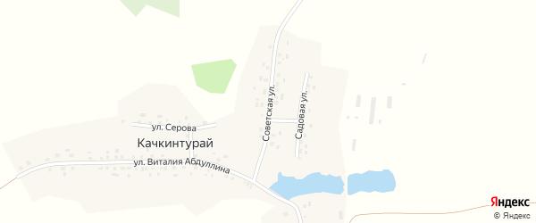 Советская улица на карте деревни Качкинтурая с номерами домов
