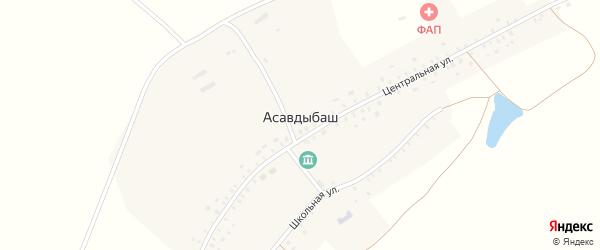 Центральная улица на карте села Асавдыбаша с номерами домов