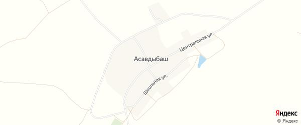 Карта села Асавдыбаша в Башкортостане с улицами и номерами домов