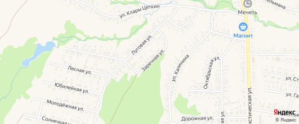 Заречная улица на карте села Федоровки с номерами домов